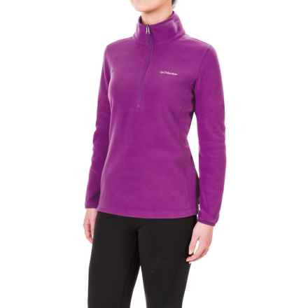 Columbia Sportswear Ridge Repeat Polartec® Fleece Shirt - Zip Neck, Long Sleeve (For Women) in Plum - Closeouts