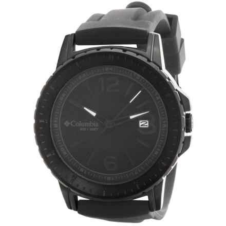 Columbia Sportswear Ridgeback Watch - Silicone Band in Black/Black - Closeouts