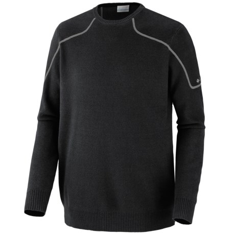 Columbia Sportswear Risco Run Crew Sweater (For Men) in Black