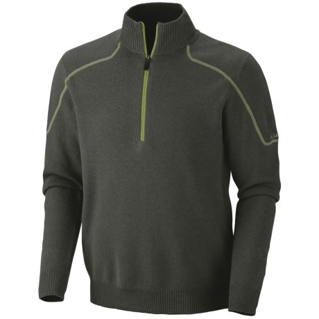 Columbia Sportswear Risco Run Sweater - Zip Neck (For Men) in Boulder