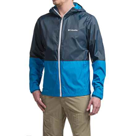 Columbia Sportswear Roan Mountain Rain Jacket - Waterproof (For Men) in Collegiate Navy/Hyper Blue - Closeouts