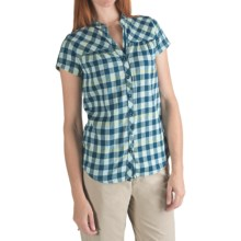 Columbia Sportswear Rolling Hills Plaid Shirt - Short Sleeve (For Women) in Wind - Closeouts