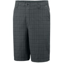 Columbia Sportswear Rugged Butte Novelty Shorts - UPF 30 (For Men) in Abyss Plaid - Closeouts