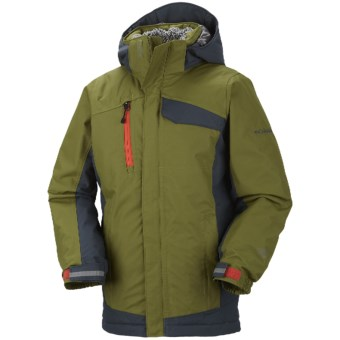 Columbia Sportswear Ryder Warmth Omni-Tech® Omni-Heat® Jacket - Long, Waterproof (For Boys) in Elm