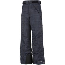 Columbia Sportswear Ryder Warmth Omni-Tech® Omni-Heat® Snow Pants - Waterproof (For Boys) in Black Ombre Plaid - Closeouts