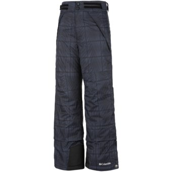 Columbia Sportswear Ryder Warmth Omni-Tech® Omni-Heat® Snow Pants - Waterproof (For Boys) in Black Ombre Plaid