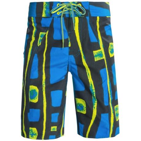 Columbia Sportswear Salton Boardshorts - UPF 30 (For Men) in Hyper Blue Bed Rock Print