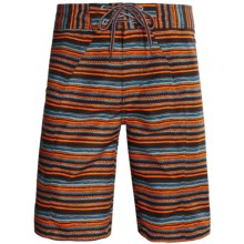 Columbia Sportswear Salton Boardshorts - UPF 30 (For Men) in Red Rocks Stripe Print - Closeouts