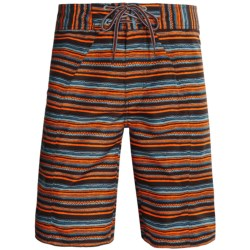 Columbia Sportswear Salton Boardshorts - UPF 30 (For Men) in Red Rocks Stripe Print