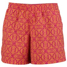 Columbia Sportswear Sandy River II Print Shorts - UPF 30 (For Women) in Fuchsia/Soleil - Closeouts