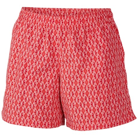 Columbia Sportswear Sandy River II Print Shorts - UPF 30 (For Women) in Red Hibiscus Grapefruit