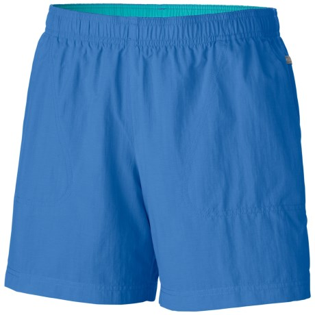 Columbia Sportswear Sandy River Shorts - UPF 30 (For Plus Size Women) in Harbor Blue/Geyser
