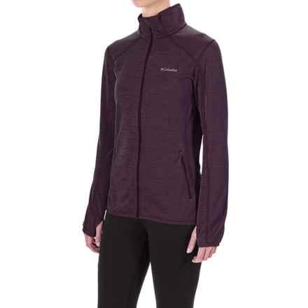 Columbia Sportswear Sapphire Trail Fleece Jacket (For Women) in Purple Dahlia - Closeouts