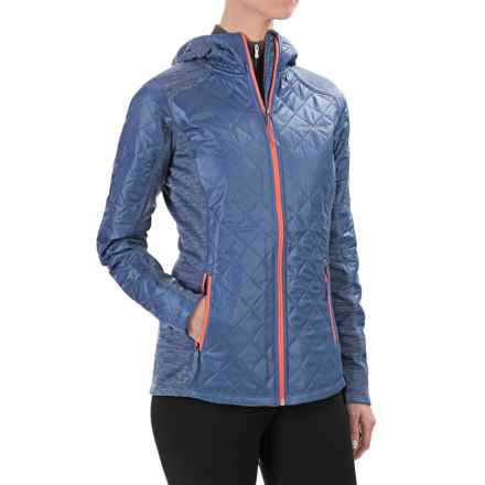 Columbia Sportswear Sapphire Trail Omni-Heat® Hybrid Jacket - Hooded (For Women) in Bluebell - Closeouts