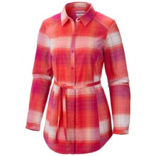 Columbia Sportswear Saturday Trail Flannel Shirt - Long Sleeve (For Women) in Groovy Pink - Closeouts