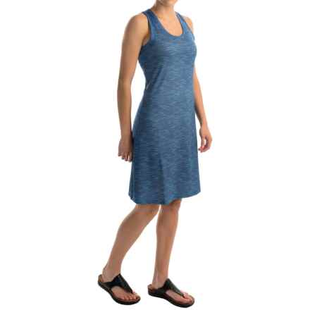 Columbia Sportswear Saturday Trail II Knit Dress - Omni-Wick®, Racerback, Sleeveless (For Women) in Stormy Blue Print - Closeouts