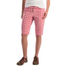 Columbia Sportswear Saturday Trail II Plaid Shorts - UPF 15 (For Women) in Bright Geranium - Closeouts
