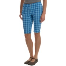 Columbia Sportswear Saturday Trail II Plaid Shorts - UPF 15 (For Women) in Stormy Blue Plaid - Closeouts