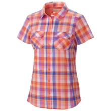 Columbia Sportswear Saturday Trail III Plaid Shirt - UPF 50, Short Sleeve (For Women) in Coral Flame Plaid - Closeouts