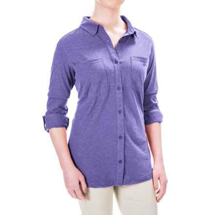 Columbia Sportswear Saturday Trail Omni-Wick® Shirt - Long Sleeve (For Plus Size Women) in Nightshade Heather - Closeouts