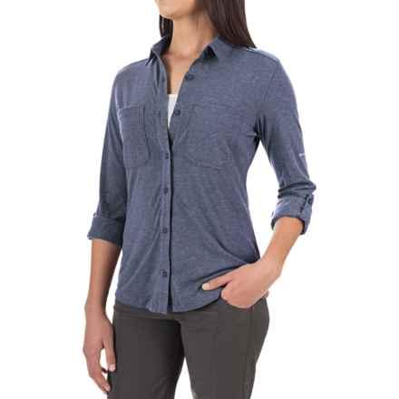 Columbia Sportswear Saturday Trail Omni-Wick® Shirt - Long Sleeve (For Women) in Nightshade Heather - Closeouts