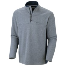 Columbia Sportswear Schuss Pullover Shirt - Zip Neck, Long Sleeve (For Men) in Columbia Navy - Closeouts
