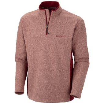 Columbia Sportswear Schuss Pullover Shirt - Zip Neck, Long Sleeve (For Men) in Red Element