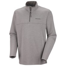 Columbia Sportswear Schuss Pullover Shirt - Zip Neck, Long Sleeve (For Men) in Stratus Heather - Closeouts