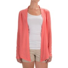 Columbia Sportswear See Through You Burnout Cardigan Wrap - Long Sleeve (For Women) in Coral Bloom Burnout - Closeouts
