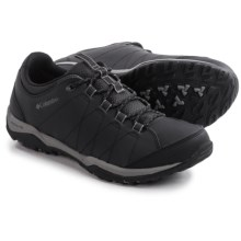 Columbia Sportswear Sentiero Hiking Shoes - Leather (For Men) in Black/Charcoal - Closeouts