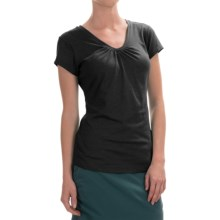 Columbia Sportswear Shadow Time II T-Shirt - V-Neck, Short Sleeve (For Women) in Black/Grill - Closeouts