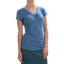 Columbia Sportswear Shadow Time II T-Shirt - V-Neck, Short Sleeve (For Women) in Stormy Blue - Closeouts