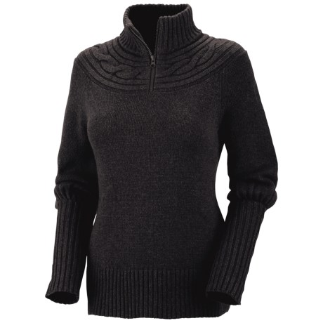 Columbia Sportswear She Pines for Alpine Sweater - Zip Neck (For Women) in Black