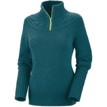 Columbia Sportswear She Pines for Alpine Sweater - Zip Neck (For Women) in Blue Forest - Closeouts