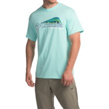 Columbia Sportswear Shifting Shoreline Dorado T-Shirt - Short Sleeve (For Men) in Gulf Stream/White - Closeouts