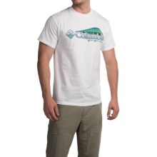 Columbia Sportswear Shifting Shoreline Dorado T-Shirt - Short Sleeve (For Men) in White/Gemstone - Closeouts