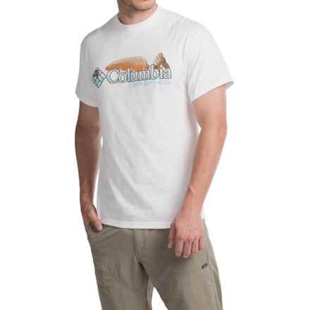 Columbia Sportswear Shifting Shoreline Redfish T-Shirt - Short Sleeve (For Men) in White/Opal Blue - Closeouts