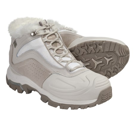 Columbia Sportswear Silcox Six Winter Boots - Weather (For Women) in Light Grey/Bright Peach