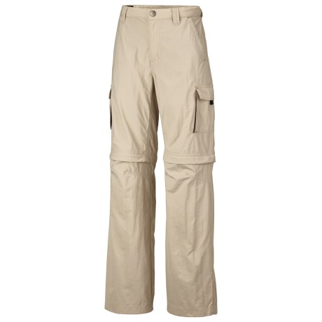 Columbia Sportswear Silver Ridge Convertible Pants - Mini Rip Nylon, UPF 50 (For Youth Boys) in Fossil