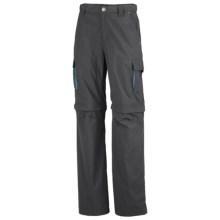 Columbia Sportswear Silver Ridge Convertible Pants - Mini Rip Nylon, UPF 50 (For Youth Boys) in Grill - Closeouts