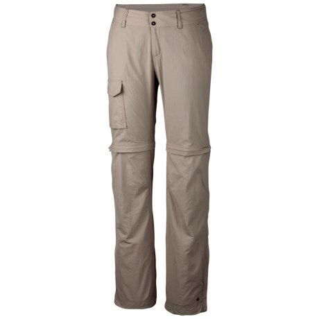 Columbia Sportswear Silver Ridge Convertible Pants - UPF 50, Full Leg (For Plus Size Women) in Fossil