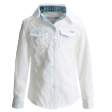 Columbia Sportswear Silver Ridge II Shirt - UPF 30, Long Sleeve (For Toddler Girls) in White - Closeouts