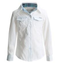 Columbia Sportswear Silver Ridge II Shirt - UPF 30, Long Sleeve (For Toddler Girls) in White - Closeouts