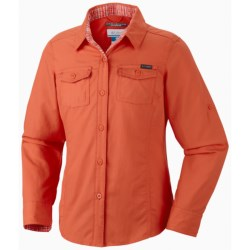 Columbia Sportswear Silver Ridge II Shirt - UPF 30, Summit Cloth, Long Sleeve (For Girls) in Zing