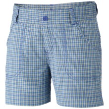 Columbia Sportswear Silver Ridge II Shorts (For Toddler Girls) in Light Grape Plaid - Closeouts