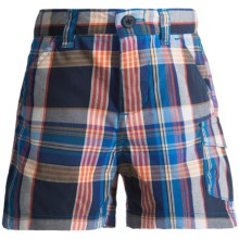 Columbia Sportswear Silver Ridge II Shorts - UPF 30 (For Toddler Boys) in 431 Hyper Blue Plaid - Closeouts