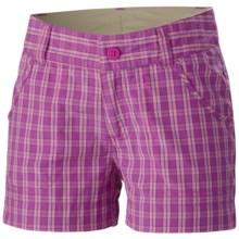 Columbia Sportswear Silver Ridge III Shorts - UPF 30 (For Girls) in Foxglove Plaid - Closeouts