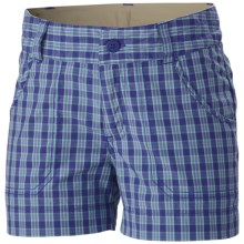 Columbia Sportswear Silver Ridge III Shorts - UPF 30 (For Girls) in Light Grape Plaid - Closeouts