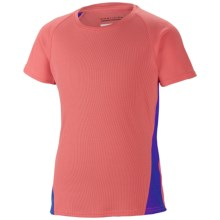 Columbia Sportswear Silver Ridge III Tech T-Shirt - UPF 30, Short Sleeve (For Girls) in Hot Coral - Closeouts