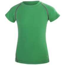 Columbia Sportswear Silver Ridge Mini Pique Tee - UPF 30, Short Sleeve (For Youth Girls) in Winter Green - Closeouts